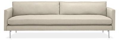 "Janus 104"" Bench-Cushion Sofa in Clayton Oatmeal"