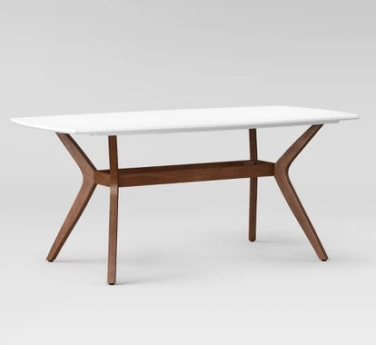 """Emmond Mid Century 72"""" Dining Table White & Brown - Project 62™"""