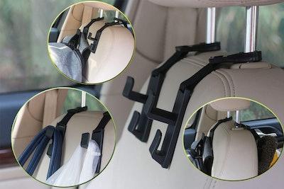 Pluslor Headrest Hanger Hooks (Set of 4)