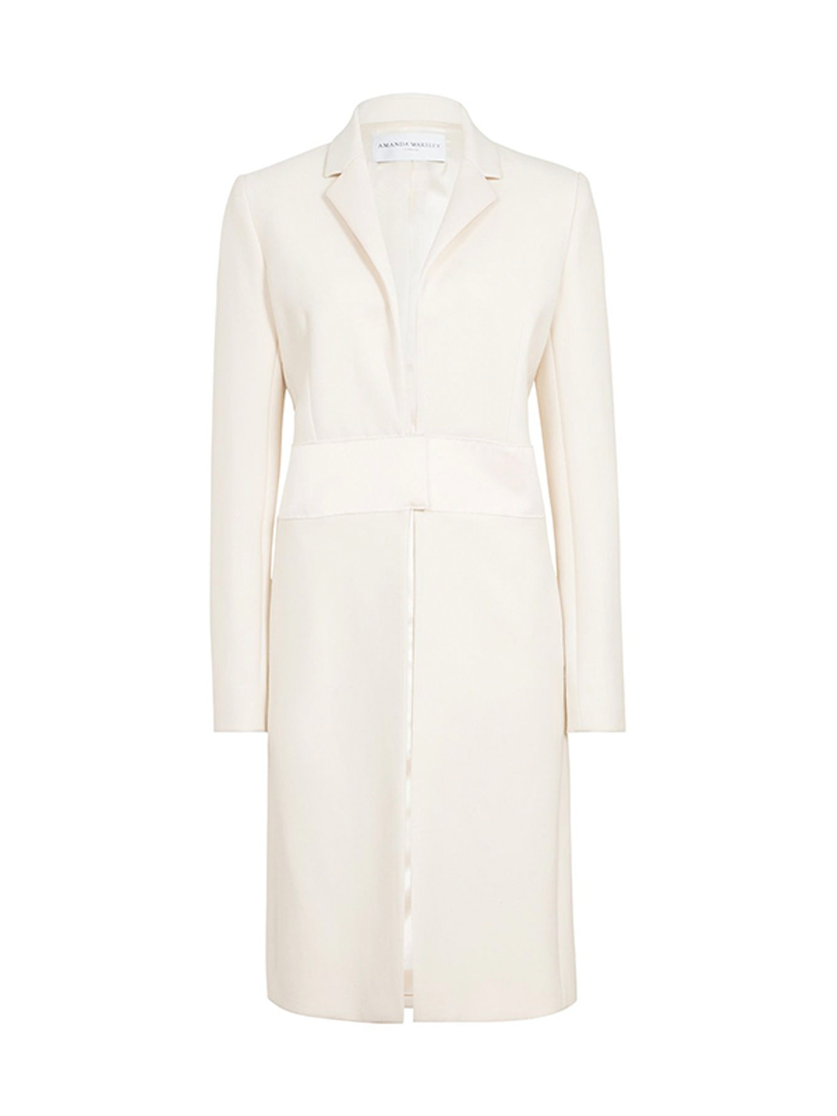 Cream Sculpted Tailoring Crombie Coat