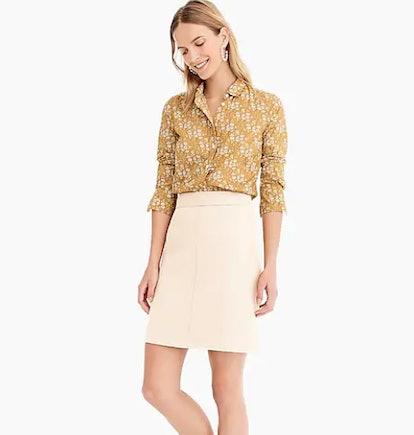 Princess Mini Skirt In Double-Serge Wool