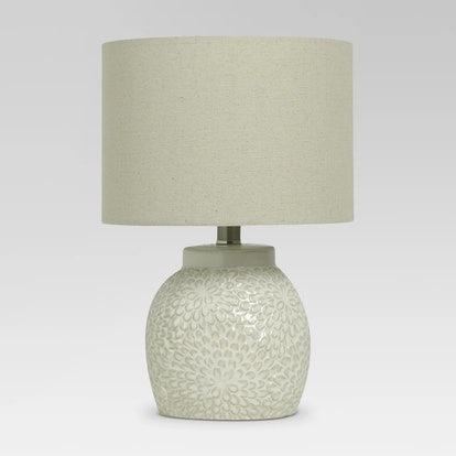 Threshold™ - Floral Textured Ceramic Accent Lamp Shell