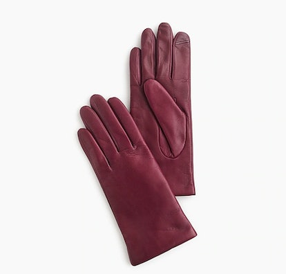 Cashmere-Lined Leather Tech Gloves