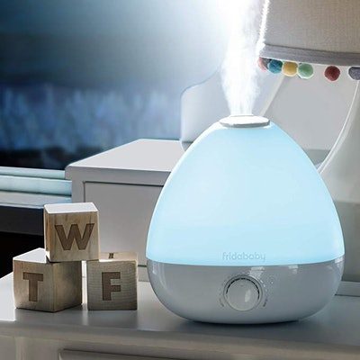 FridaBaby 3-in-1 Humidifier, Diffuser, Nightlight for Nursery Sinus-Soothing Cool Mist, Aromatherapy, and Relaxing Color-Change nightlight