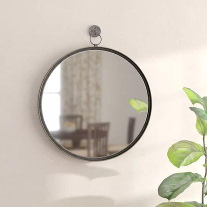 Gracie Oaks Della Suspended Round Wall Mirror