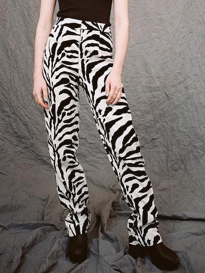 Daisy | Zebra Velvet
