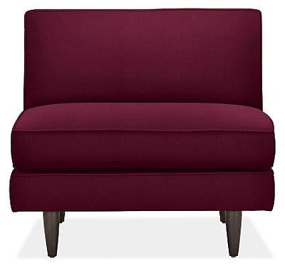 "Naomi 58"" Armless Chair in Vance Burgundy"