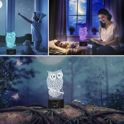 Owl 3-D Illusion Lamp