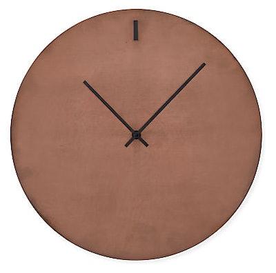 Tempo 16 diam Wall Clock in Patina