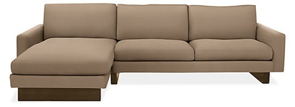 """Hess 104"""" Sofa with Left-Arm Chaise in Desmond Oatmeal"""