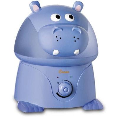 Crane - Adorable Ultrasonic Cool Mist Humidifier Hippo - EE-8245, Blue