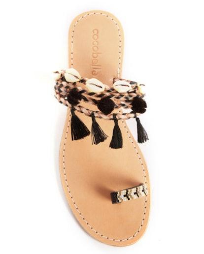 Embellished Toe Loop Slide Sandal
