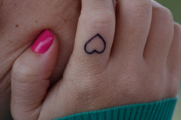 Matching tattoos for families: heart
