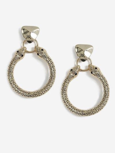 Snake Head Door Knocker Earrings