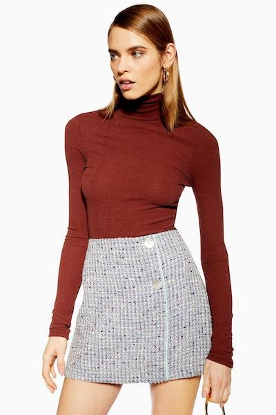 Silver Button Boucle Skirt
