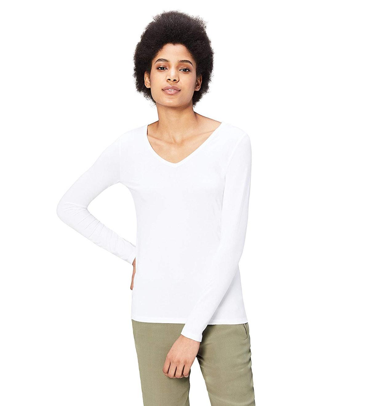 Daily Ritual Long-Sleeve V-Neck Shirt