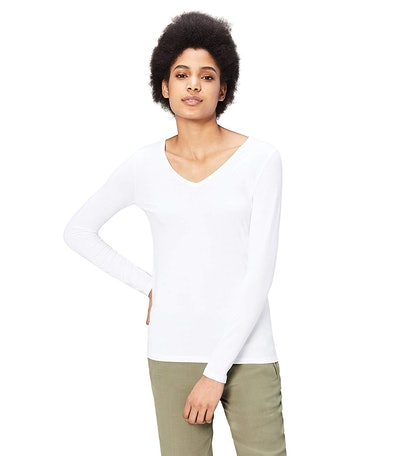 Daily Ritual Long-Sleeve V-Neck Shirt
