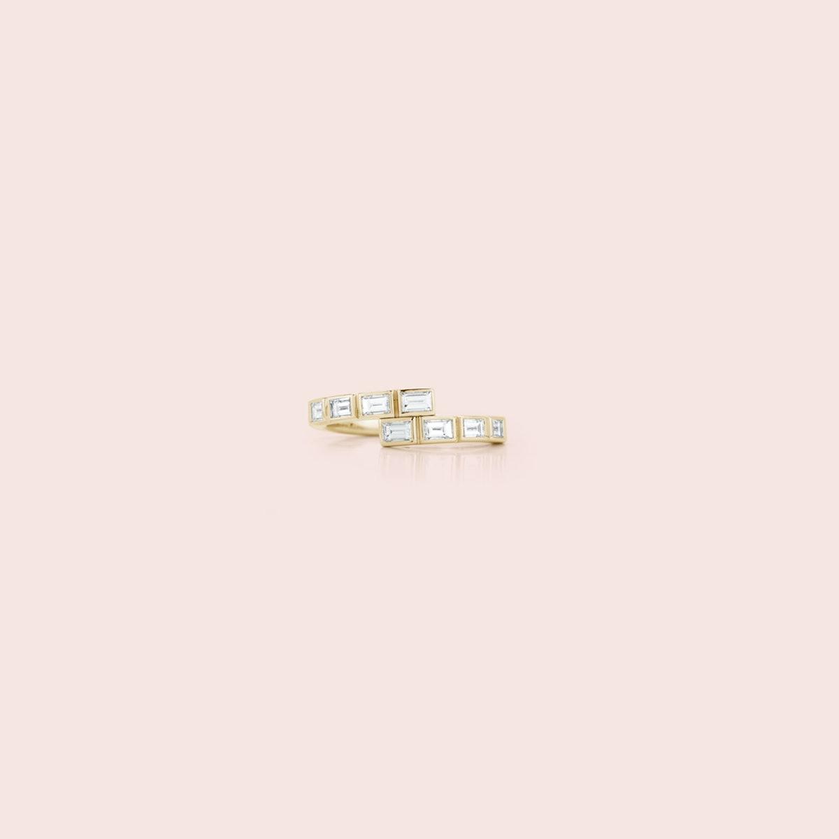 Modern Deco Diamond Baguette Ring