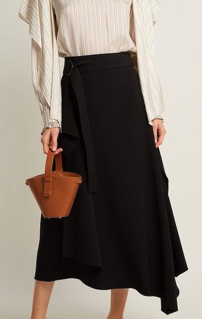 Nelia Mini Leather Bucket Bag