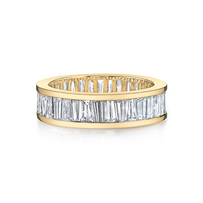 Alternating Tapered Baguette Eternity Band