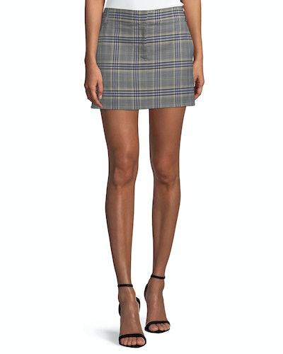 Lucas Plaid Suiting Mini Skirt