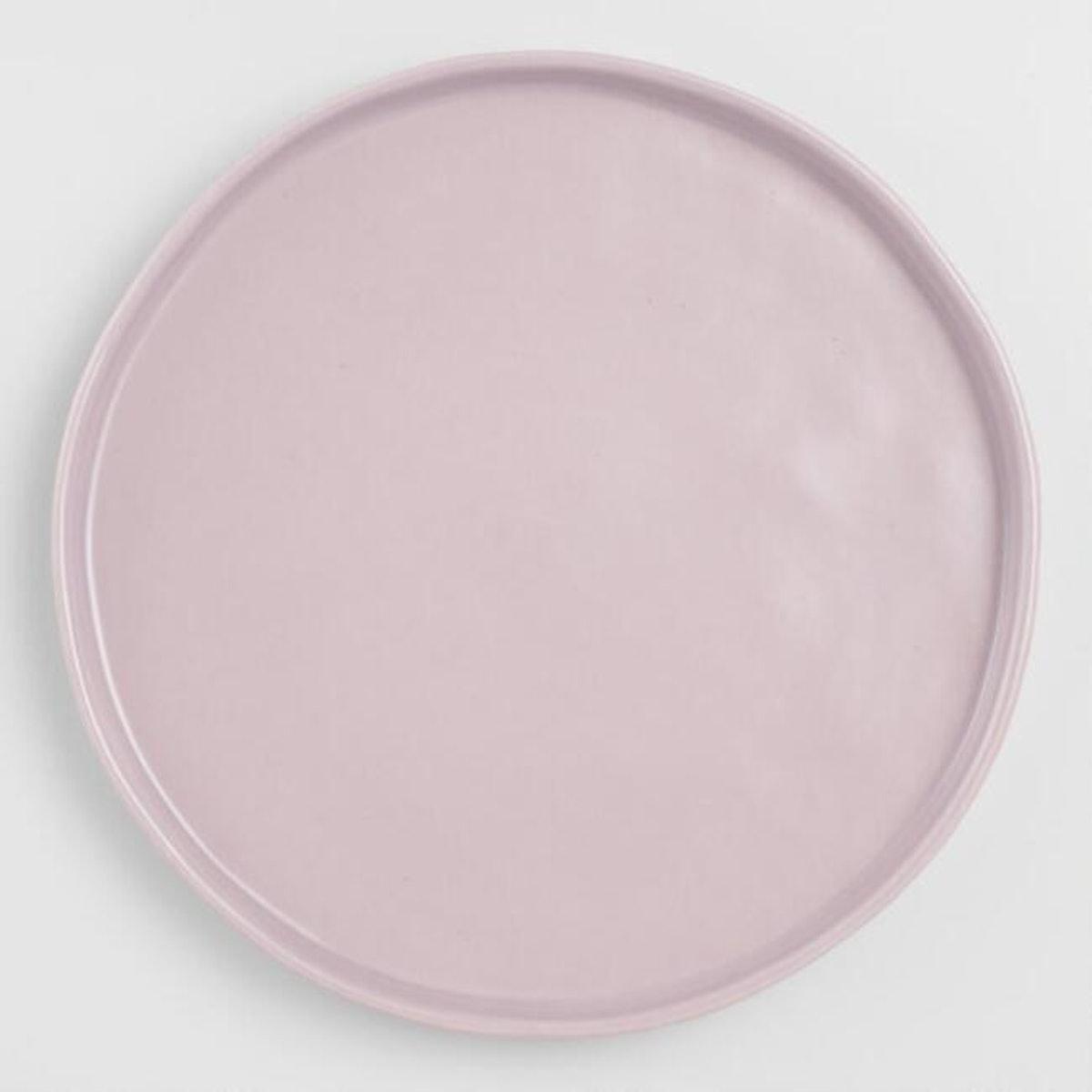 Lavender Organic Rimmed Salad Plated (Set of 6)