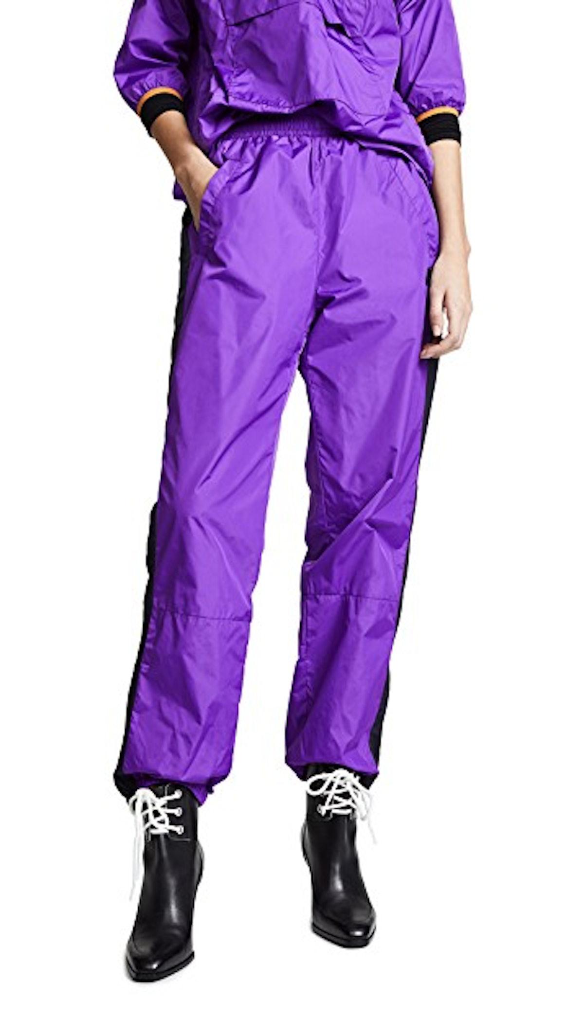 Nylon Pants in Violet Purple
