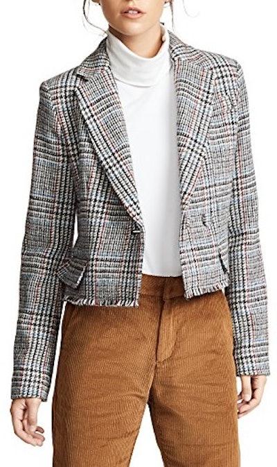 Scottish Tweed Cropped Blazer