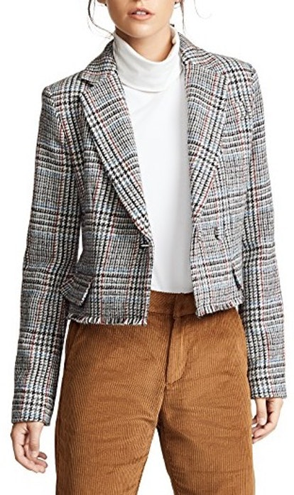 Scottish Tweed Cropped Blazer