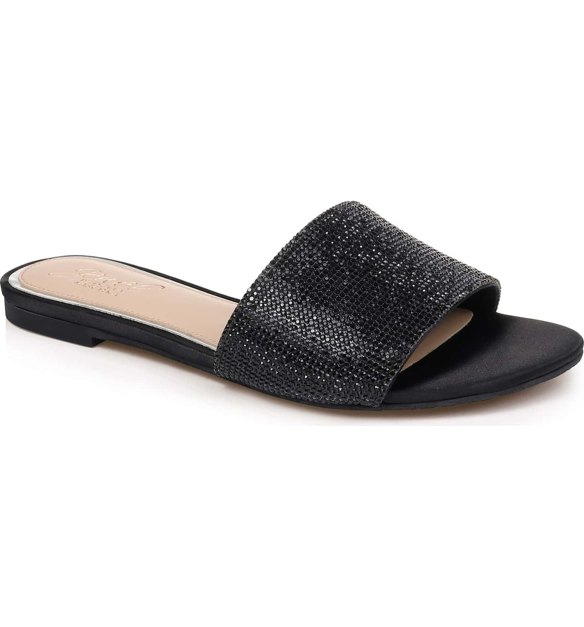 Khaleesi Crystal Slide Sandal, Main, color, BLACK CRYSTAL SATINKhaleesi Crystal Slide Sandal, Main, ...