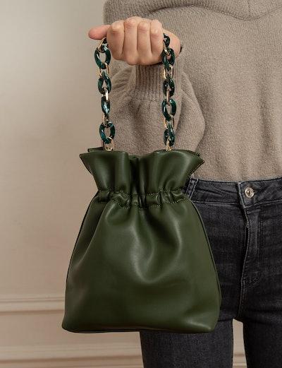 Olive Chain Pouch Mini Bag