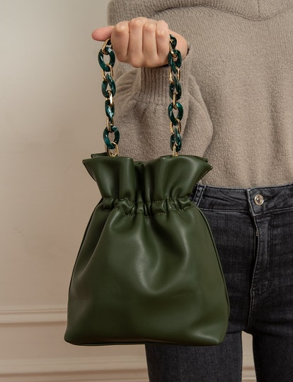 Olive Chain Pouch Mini Bag