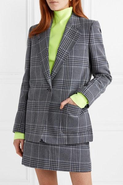 Jana Checked Cotton-Blend Blazer