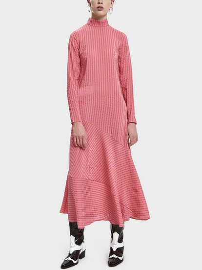 Lynch Seersucker Maxi Dress