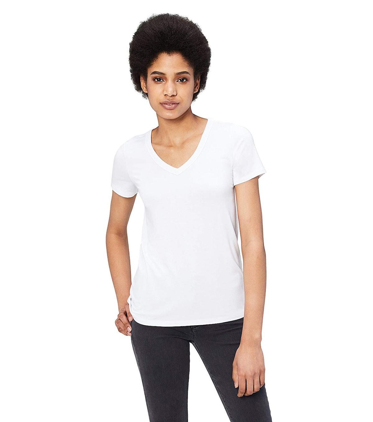 Daily Ritual Women's Short-Sleeve V-Neck T-Shirt