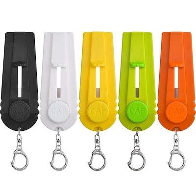 TOODOO Beer Bottle Opener Key Ring (Set of 5)