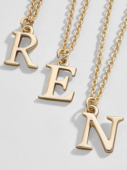 Bold Alpha Pendant Necklace