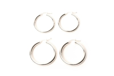 Silver Rounded Hoops
