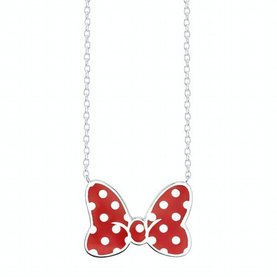 Minnie Mouse Bow Necklace Iconic Red Small