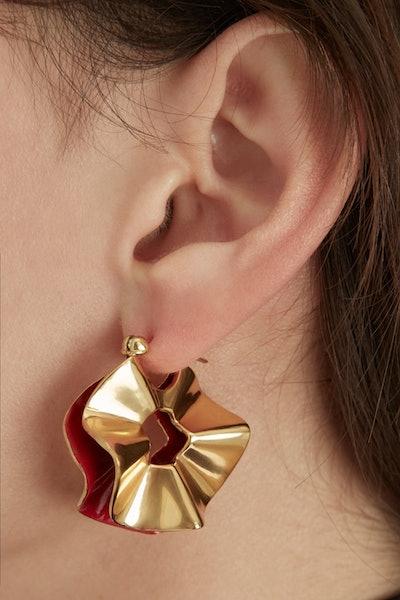 Flourish Small Curl Earrings