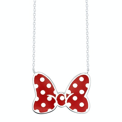 Minnie Mouse Bow Necklace Iconic Red Large