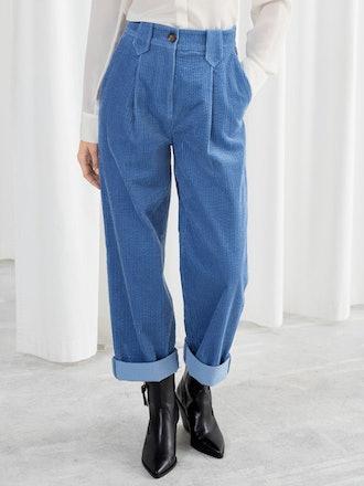 High Waisted Corduroy Trousers