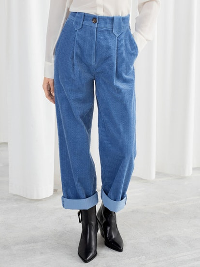 High Waisted Corduroy Trousers