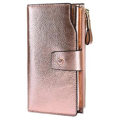 Itslife Women's RFID Blocking Large Capacity Leather Wallet