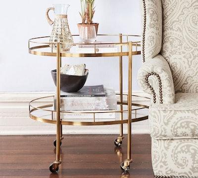 Abby Oval Bar Cart