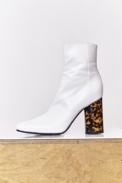 Square Toe Leather Boot