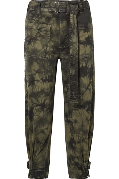 PSWL Cropped Tie-Dyed Tapered Pants