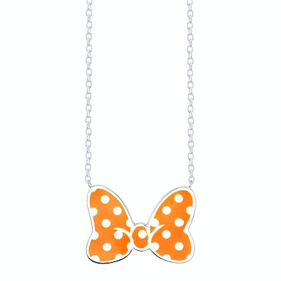 Minnie Mouse Bow Necklace Tangerine