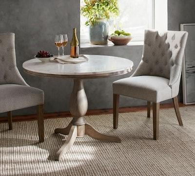 Alexandra Marble Pedestal Table