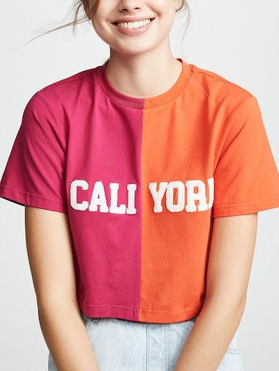 Cali York Embroidered Crop T-Shirt